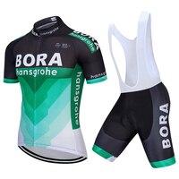 Radfahren Jersey Bora Cycling Bib Shorts Sommer Stil Radfahren Set Fahrrad Schnell Trocknend Kurzarm Breathable Manner