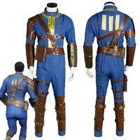 Fallout 4 FO Нейт Косплэй костюм Vault #111 наряд комбинезон форма единственный выживший Хэллоуин вечерние костюмы для взрослых Для мужчин для женщи