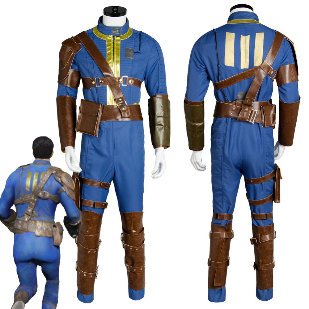 Fallout 4 FO Nate Cosplay Costume Vault #111 Outfit Jumpsuit Uniform Sole Survivor Halloween Party Costumes For Adult Men Women