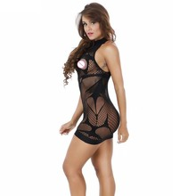 2017 New fishnet Baby Doll Women Sexy Lingerie Hot Crochet Mesh Hollow Out See-through Mini Chemise Bodydoll Erotic Lingerie 585