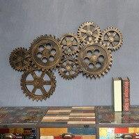 Ретро промышленного ветер настенные украшения деревянные стены дома интерьер Творческий даже передач бар украшения