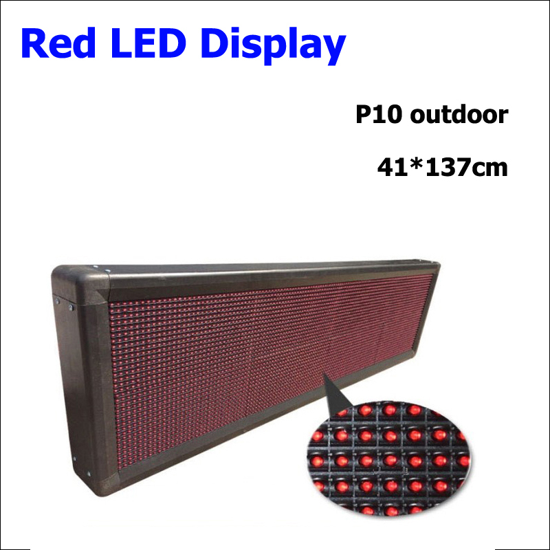 Factory Supply Full Color Red P10 Led Display Module 320x160mm Unit Module Led Display Doard 41*137cm Outdoor P10 Led