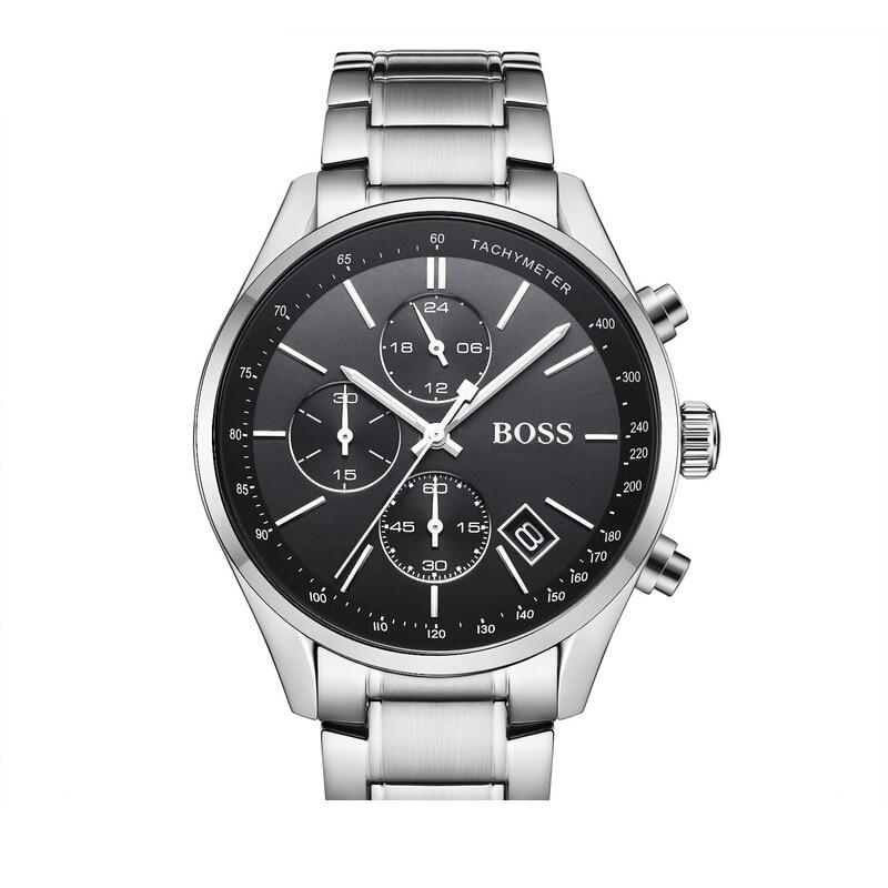 BOSS Grand Prix Men Watch Business Chronograph Classic Design Mens Quartz Watches with Tungsten Steel Strap - 1513477