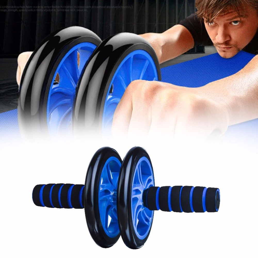Abdominal Fitness Wheel Workout Gym Roller for Arms Back Belly Core Trainer Roller Double Wheels Fitness Equipment Supplies