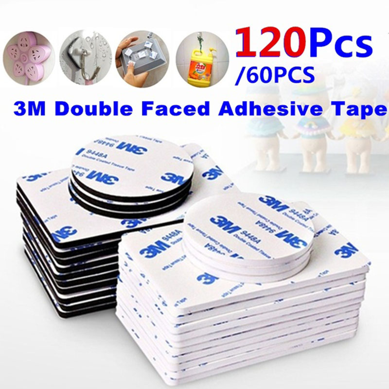 60-120pcs-3m-double-sided-foam-tape-strong-pad-mounting-rectangle-adhesive-tape-free-shipping