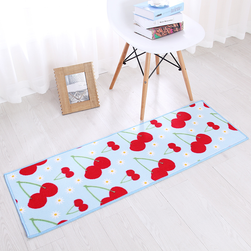 2 Piece Washable Kitchen Mats Fruit Pattern Kitchen Rugs And Carpets
