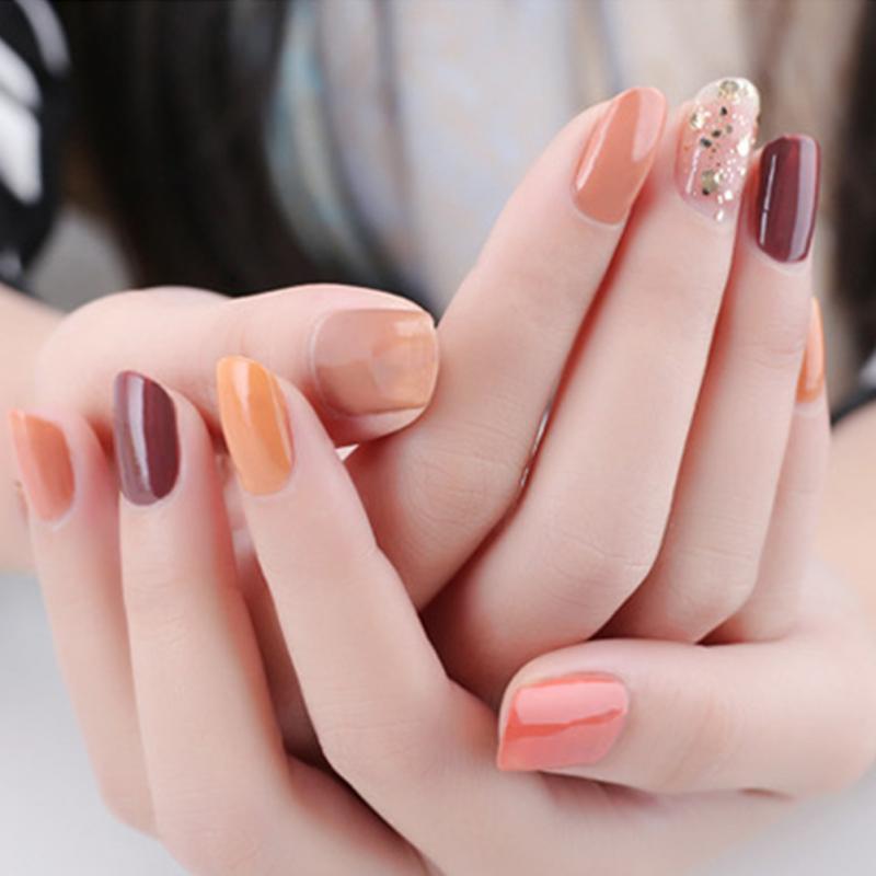 6pcs Nail Polish Nude Color Collection Set Non toxic Korean Nail Art ...