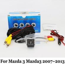 Для Mazda 3 Mazda3 Axela Mazdaspeed3 BK BL 2007 ~ 2013/HD Широкоугольный Объектив CCD Ночного Видения Заднего Вида Заднего Парковочная Камера