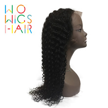 WoWigs Hair Lace Front Wigs Curly Remy Natural Color 100% Human