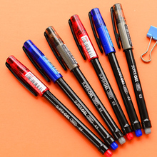6 pcs/Lot Color gel pen 0.5mm ballpoint Blue black red ink school pens Classic Office supplies lapices gel Stationery EB208 rocket car shaped blue gel ink ballpoint pen red yellow