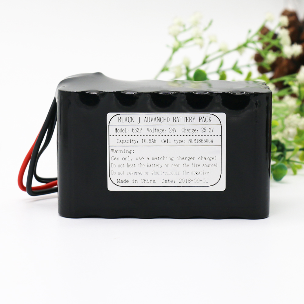 24V 10.5Ah 6S3P 25.2V NCR18650GA Li-Ion Battery Pack Lithium Batteries for Small Electric Motor Bicycle Ebike Scooter with BMS 7s3p 24v 10 5ah 29 4v ncr18650ga li ion battery pack lithium batteries for small electric motor bicycle ebike scooter with bms