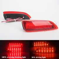 For 2011 2012 Toyota Corolla Lexus CT Parking Warning Brake Tail Lamp Red Lens Rear Bumper