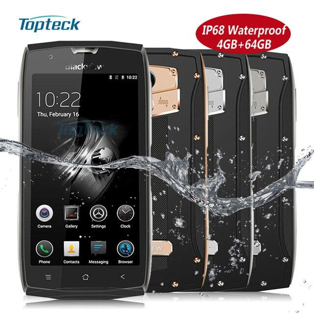 "Blackview BV7000 Pro IP68 impermeable a prueba de golpes 4G Fingerprint Smartphone MTK6750T Octa Core 5,0 ""FHD 4 GB + 64 GB 13MP teléfono móvil"