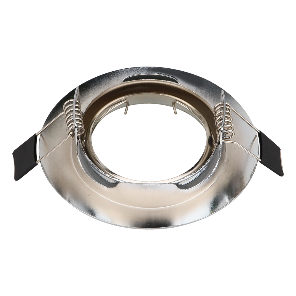 Modern Round Gu10 Spot Bulb Recessed Led Ceiling Light Fixtures Downlight MR16 Fitting Ceiling Spotlight mounting frame dia 50mm in Lamp Bases from Lights Lighting