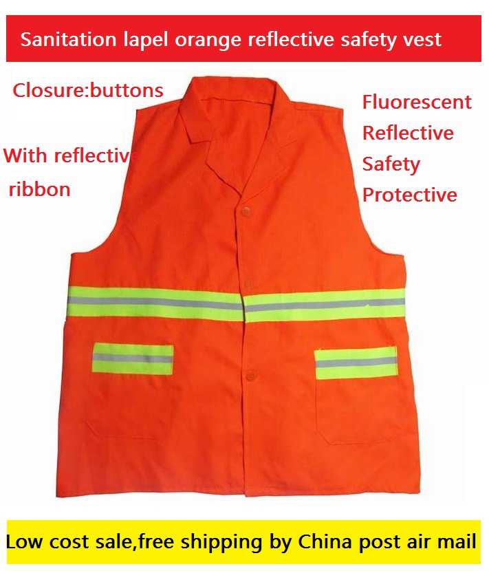 High visibility reflective ribbon sanitation safety vest
