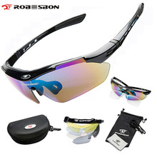 ROBESBON Polarized Fun Sports Cycle Sunglasses Ciclismo 5 Lenses Eyewear Professional Cycling Eeyewear Bicycle Bike Glasses