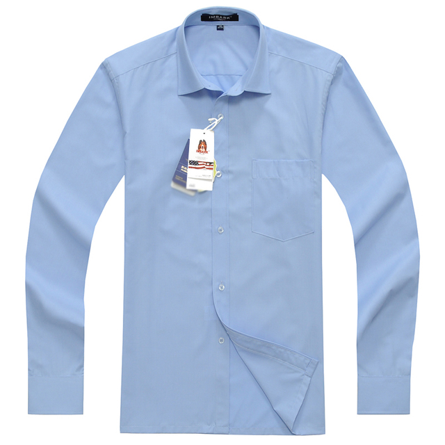 formal dress shirts men long sleeve Spring cotton shirts obese super large Brand Mens Clothing plus size 45 46 47 48 49 50 3