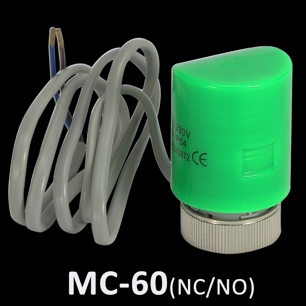 MC60-NC/NO Thermal Electric Actuator For Electric Floor Heating Manifold AC230V NC, Electric Drive Part of Control Valve