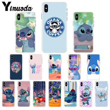 Yinuoda cute cartoon Lilo Stitch Colorful Cute Phone Accessories Case for Apple iPhone 8 7 6 6S Plus X XS MAX 5 5S SE XR Cover