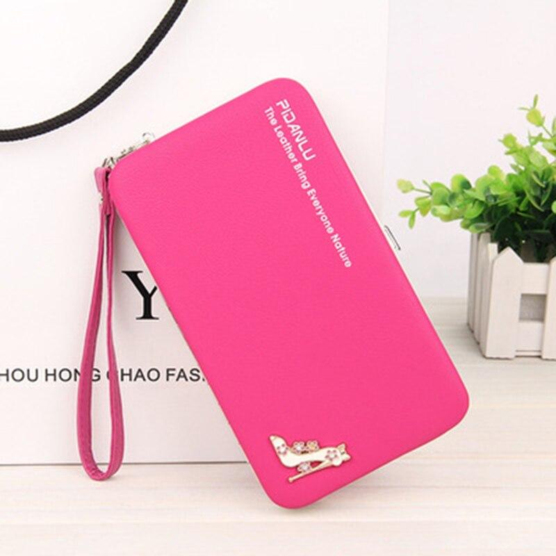 2018 wanita kotak zip panjang dompet keras perlindungan wanita koin dompet Pemegang kad pemegang telefon untuk wanita wanita fesyen klac dompet panjang