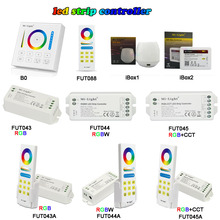 Miboxer 2.4G Wireless RGB/RGBW/RGB+CCT LED Strip Controller WIFI Smart Panel Remote turn off light timing Dimmer DC12V-24V