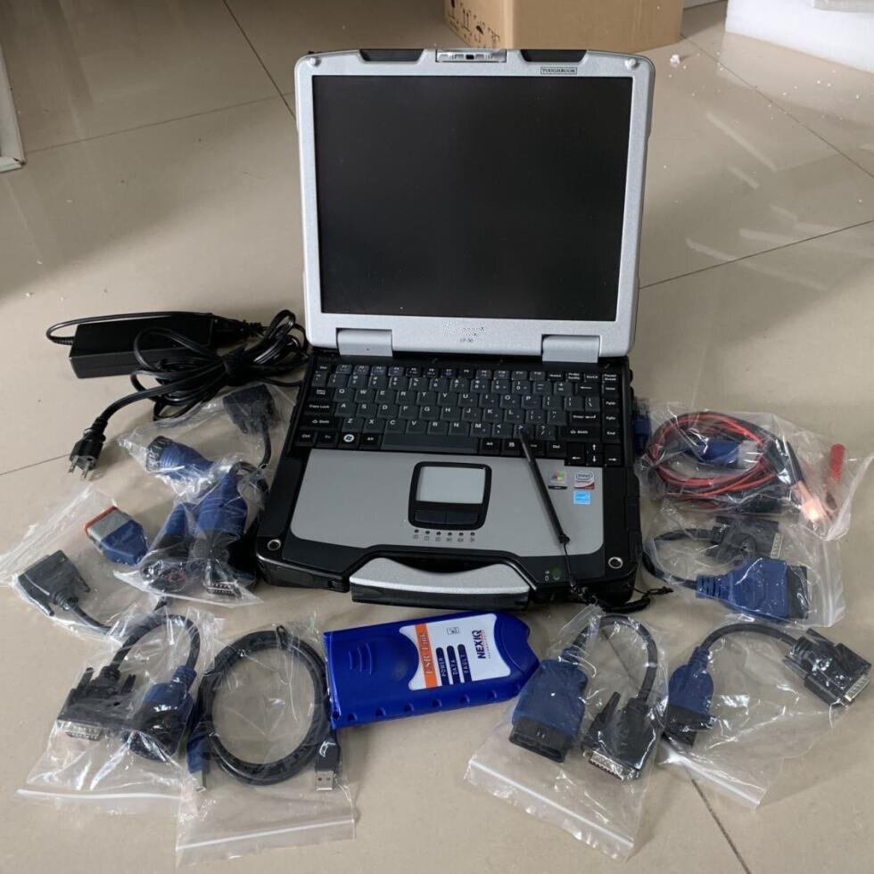 NEXIQ ferramenta de Auto Heavy Duty Truck Scanner NEXIQ USB Ligação Nexiq 125032 Link USB software com laptop cf30 toque pc cabos conjunto completo