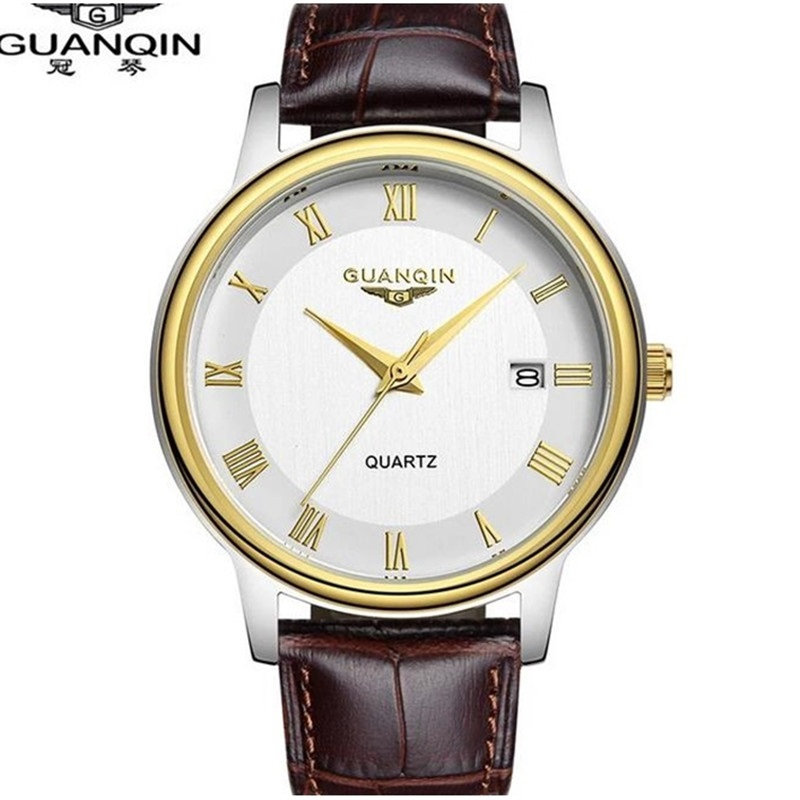Brand GUANQIN Watch Men Luxury Quartz Watch Waterproof Sport Watch Clock Famous Brand Wristwatches Relogio Masculino Reloj кроссовки asicstiger asicstiger as009aujhk94