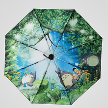 High Quality Totoro Umbrella Anime Studio Ghibli Umbrellas Rain Women Parasol Female Plegable Sombrillas Paraguas Mujer Fashion
