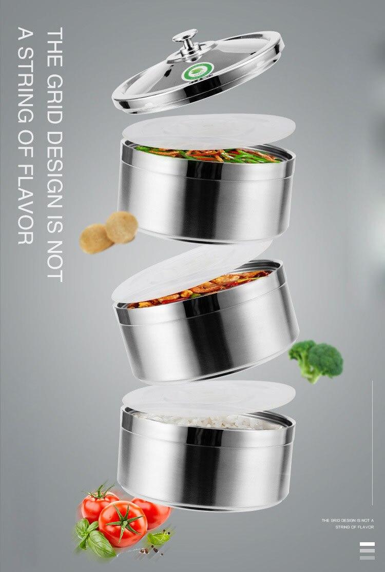 Best 304 нержавеющая сталь Круглый коробки для обедов термо еда контейнеры тепло холодной изоляцией дети студент офис Снэк еда хранения Boxe
