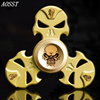 AOSST Hollow Skull Metal Multicolor Hand Spinner Fidget Spinner Finger Tri Spinner Stress Wheel Fidget