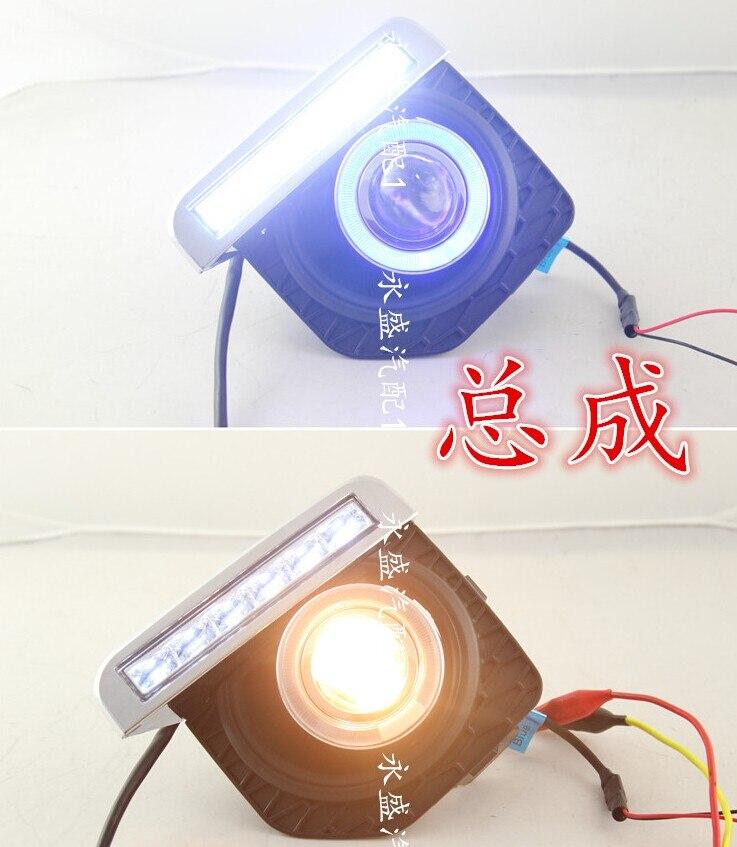 EOsuns COB angel eye led daytime running light DRL + Lampu Kabut - Lampu mobil - Foto 2