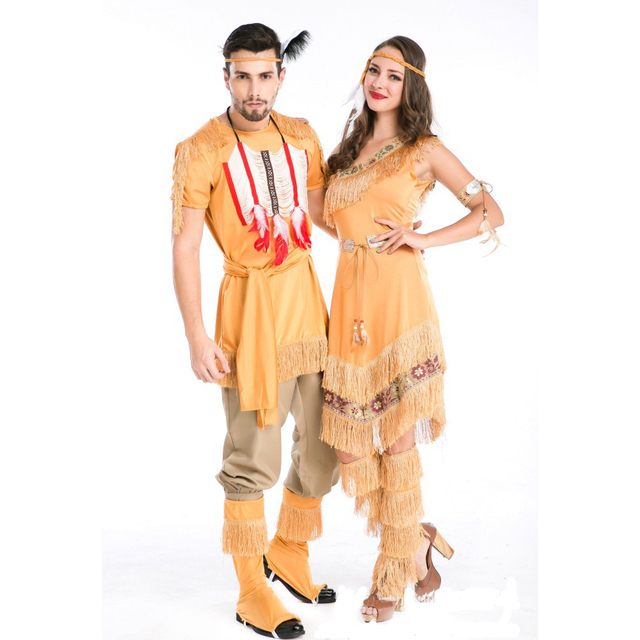 Native Indians role playing Costume Cosplay For Man and Woman ...