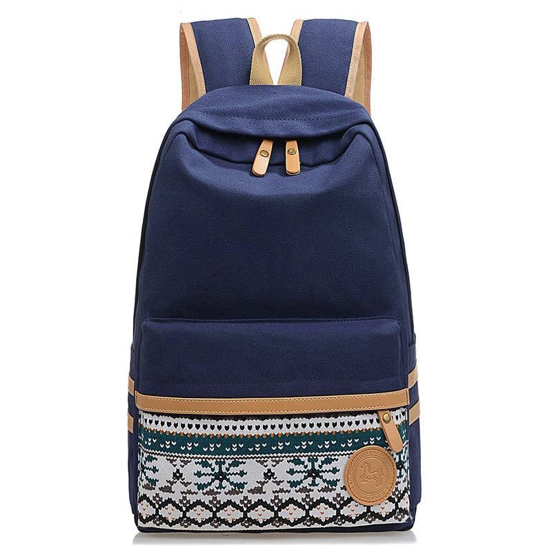 Printing Ethnic Backpack Women Girls Teenage School Bags College