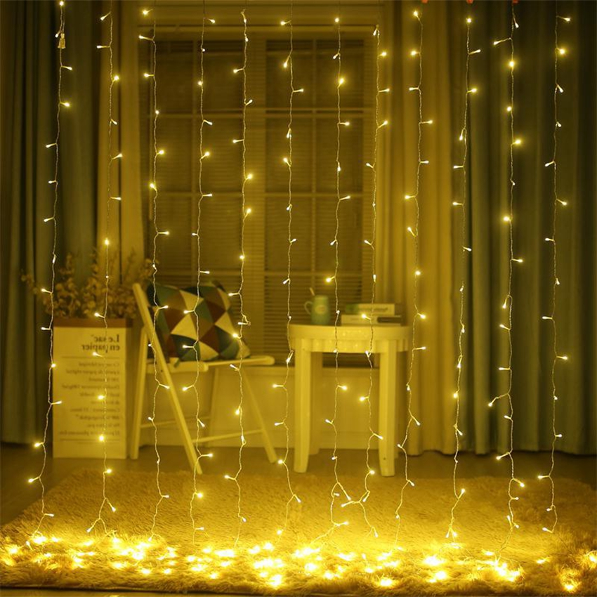 3m 3m 300 led curtain light string ramadan fairy lights led string lights wedding christmas guirlande party decoration outdoor