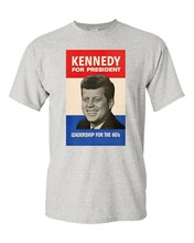 77de46e8f882 2018 Short Sleeve Cotton T Shirts Man Clothing John F. Kennedy 1960  Campaign Poster Adult