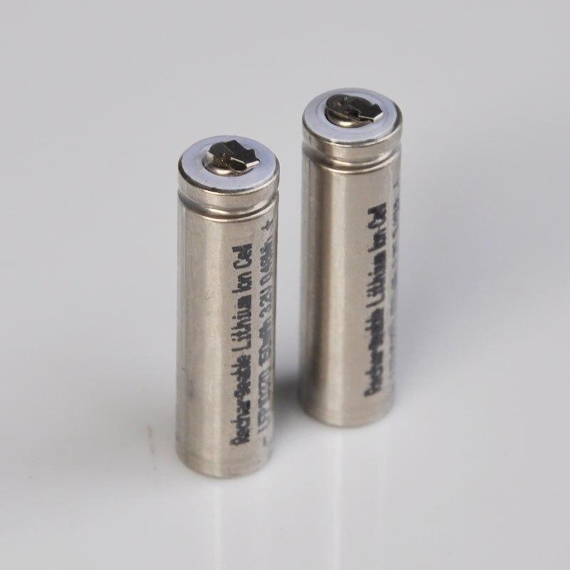 2-5 pièces 3.2V 10370 batterie Rechargeable LifePo4 10360 batteries au lithium avec onglets 150MAH pour e-cigarette