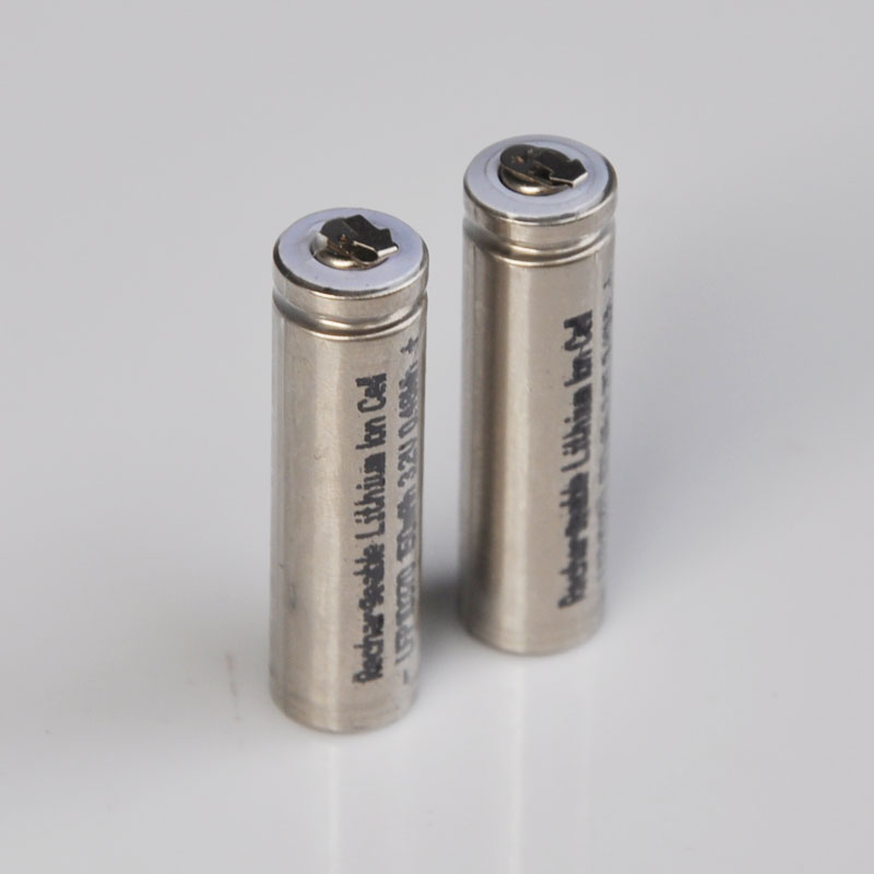 2-5PCS 3.2V 10370 Rechargeable LifePo4 Battery 10360 Lithium Cell Baterias With Tabs 150MAH For E-cigarette Power Device