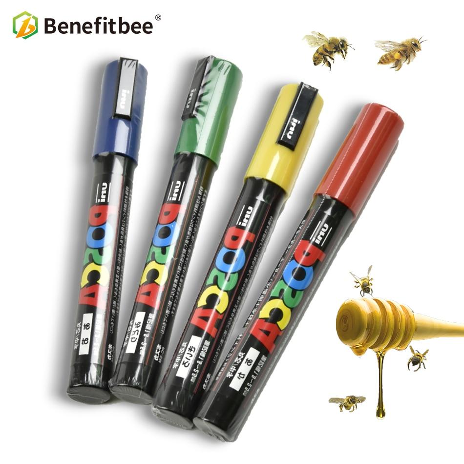 Benefitbee Profession Queen Bee Marking Marker Pen 1pcs Bees Harmless Beekeeping Tools Queen Bee Mark Plastic Marks Pen Bee Tool
