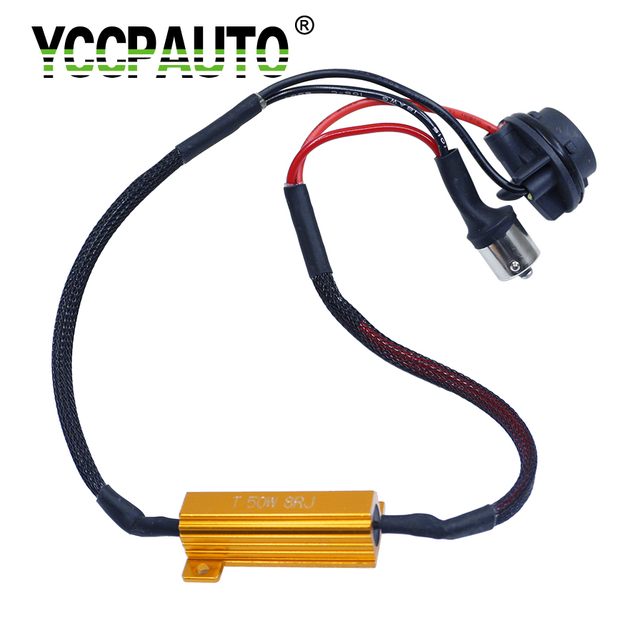 YCCPAUTO 1156 Car Resistor Canbus Cable No Flickering Error Decoder BA15S BAU15S P21W Canceller LED Light Loading 50W