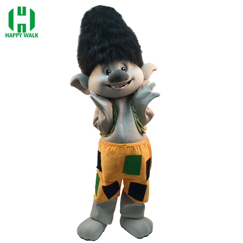 Nuevo traje de la mascota del Troll adulto para 1,65 ma 1,85 m traje - Disfraces