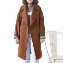 Winter Coats Warm Thick Lining Women's Wool Coats Peacoats Big Plus Size(China)