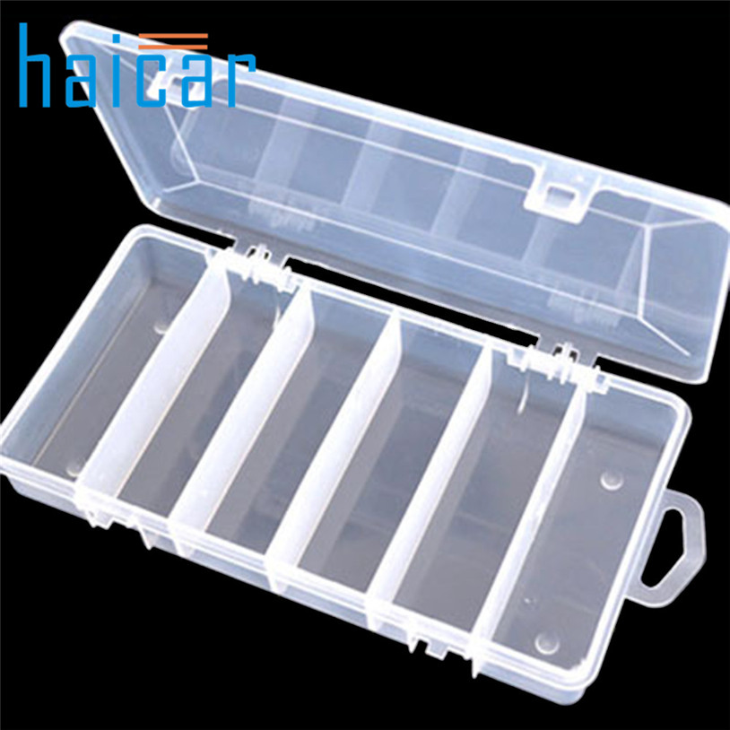 HAICAR 5 Compartments Storage-Box Organizer Container Fishing-Lure Plastic Case U70526