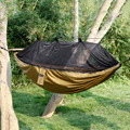 Multifunctional 1.4*2.7m Nylon Anti Mosquito Hammock Starter Rope Kit Nets Tent Outdoor Hanging Bed Hammocks for Jungle Camping