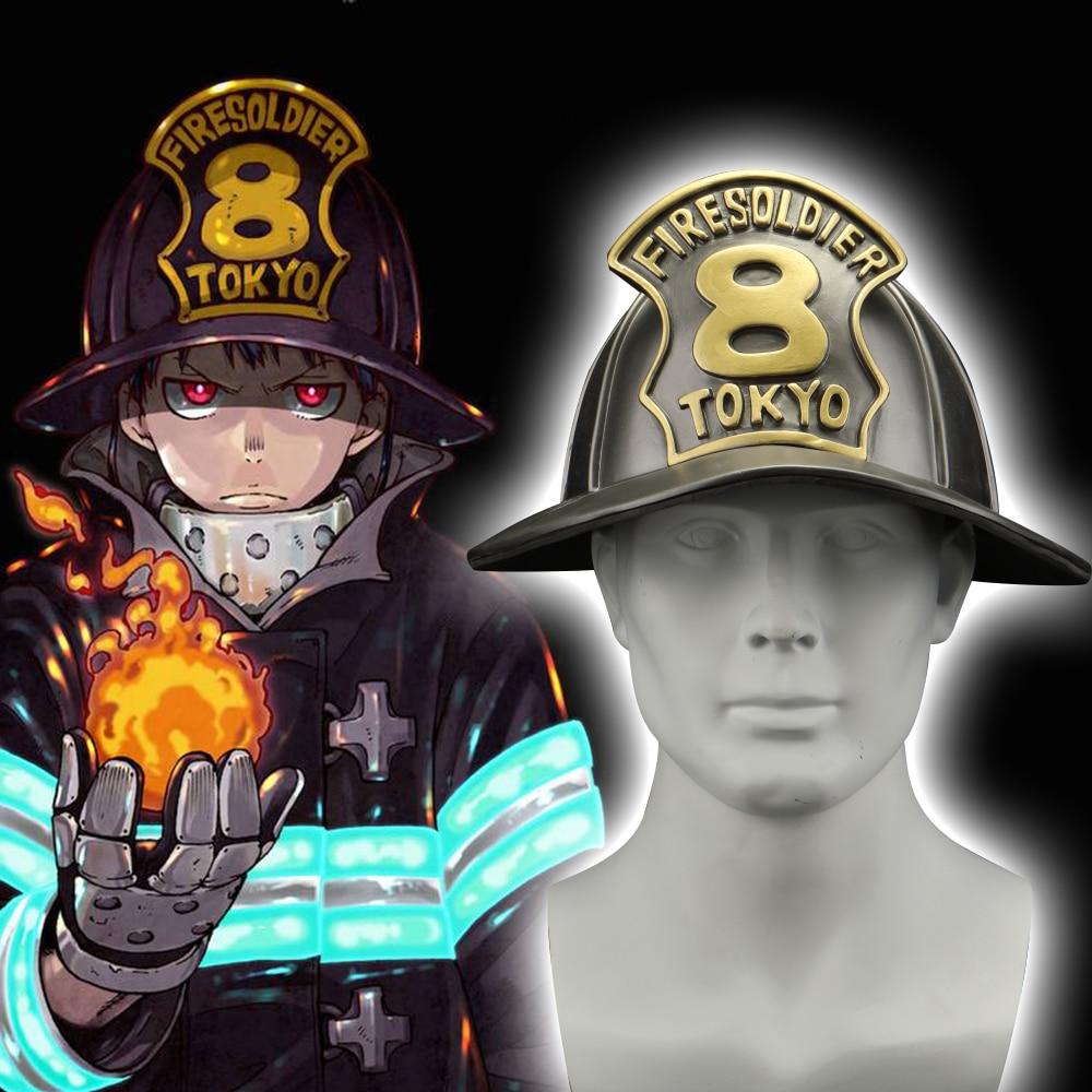 2019 New Enn Enn No Shouboutai Fire Force Helmet Cosplay Firesoldier 8 Helmet