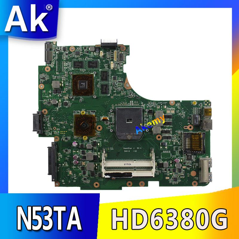 Akemy N53TA Laptop motherboard for ASUS N53TA N53TK N53T N53 Test original mainboardAkemy N53TA Laptop motherboard for ASUS N53TA N53TK N53T N53 Test original mainboard