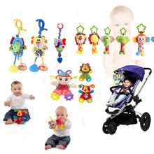 Baby Kids Rattles Toys Cotton Stroller Pram Crib Hanging Soft Plush Toys 28 style Animal Clip Baby Crib Bed Hanging Bells Toys