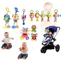 Juguetes De sonajeros para bebés y niños, cochecito de algodón, cochecito de bebé, cuna, juguetes de peluche suaves, Clip de animales de 28 estilos, cama colgante para bebé las campanas de Juguetes