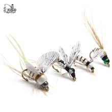 16 adet gerçekçi MAYFLY sinek Lures Set kuru ıslak perileri Caddis ortağı larva Pupa Stonefly sinek balıkçılık seti kitleri