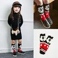 Мода Девушки Длинные Носки Старинные Хлопок Животных Носки Гетры Дети Носки для Ребенка Одежду