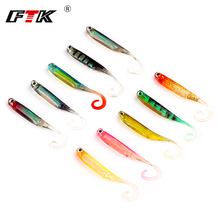 FTK Delicate Lure 5pcs/lot 7.5cm/2.5g for Fishing Shad Fishing Worm Swimbaits Jig Head Delicate Bass Lure Fly Fishing Bait Fishing Lures